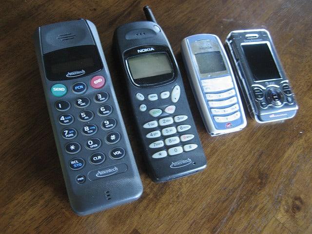 oude mobieltjes